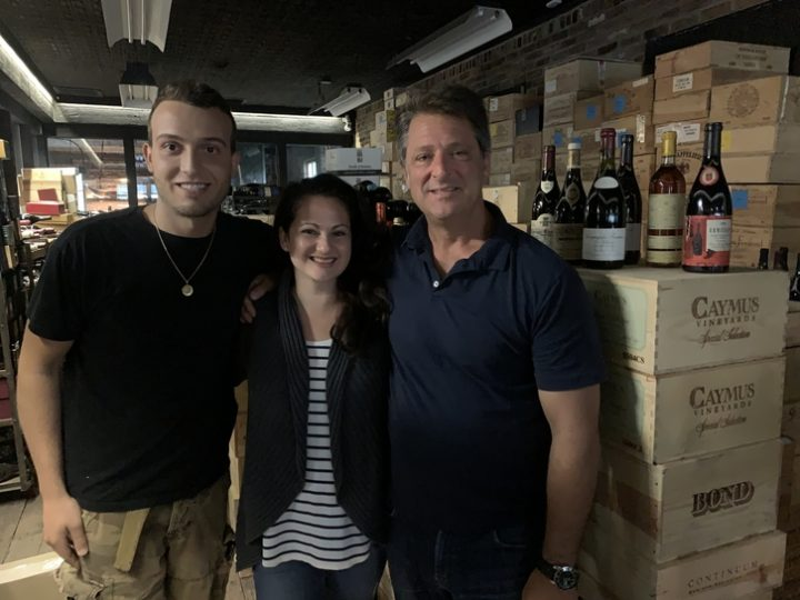 Blacksmith Wines (From left: employees Nicolas Mancinelli and Kristie Petrullo Campbell pictured with owner Mark Mancinelli) is drawing patrons to its historic location in Nelsonville, New York.