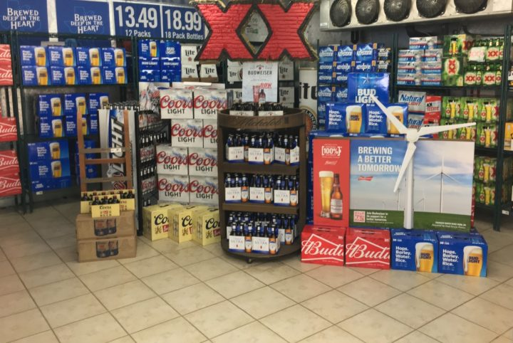 Beer has had a longtime presence in c-stores (beer display at Yesway's Sweetwater, Texas location pictured), but craft brews are making headway in recent years.