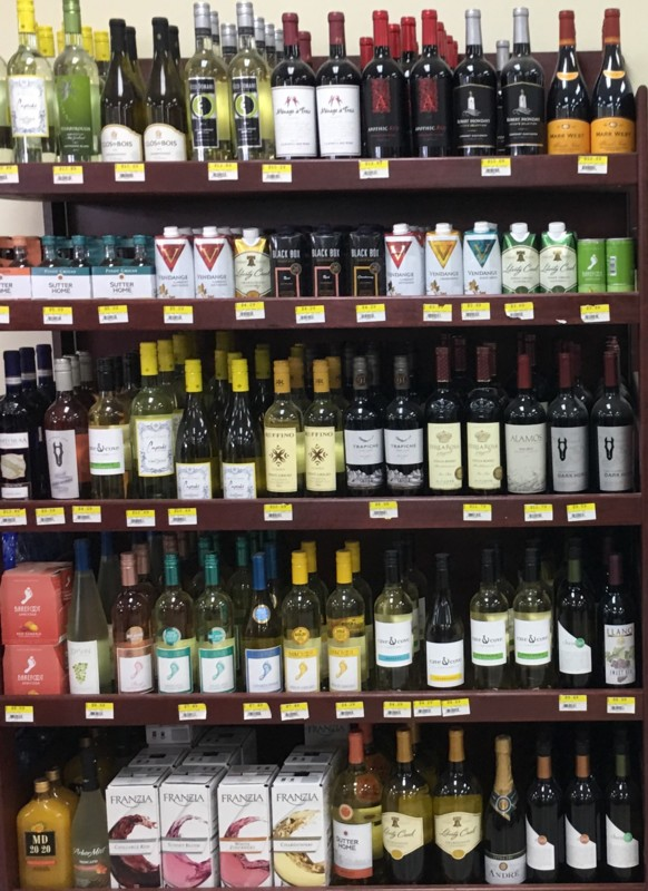 The 150-unit Yesway convenience chain (Sweetwater, Texas location's wine shelves pictured) has a vast selection of products, with the large-footprint locations devoting between 5,000 and 8,000 square feet to beverage alcohol.