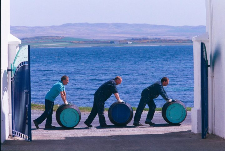 In an effort to highlight Scotland's unique terroir, a number of brands have introduced whiskies that feature locally grown grains. The 2010 vintage of Bruichladdich (barrel rollers pictured) Islay Barley used barley varieties grown on eight Islay family farms.