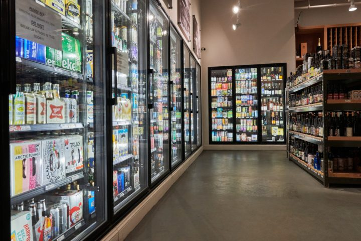 Craft beer (Downtown Boston store coolers pictured) is the main driver of Gordon's beer program, with offerings from local producers like Night Shift and Jack's Abbey bolstering sales.