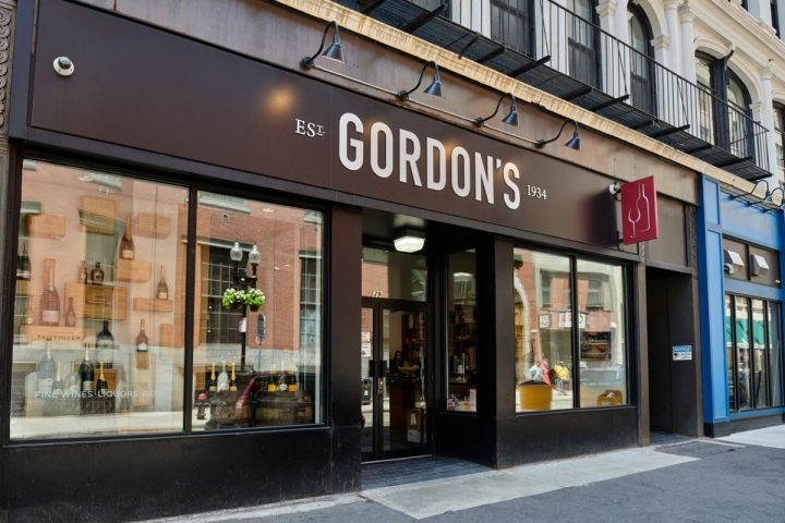 Gordon's opened its first location in Boston proper in 2015. Located in the city's Downtown Crossing shopping zone, the store (exterior pictured) carries the retailer's most extensive upscale selection, as well as the most streamlined interior design.