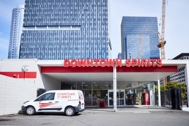 Downtown Spirits (exterior pictured) has been witness to many changes since its doors opened in 2012. The South Lake Union neighborhood that used to be populated by old warehouses, motels, and parking lots is now home to office spaces and high-end condominiums.