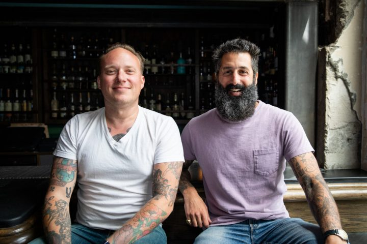 Morgan Schick (left) and Josh Harris, owners of San Francisco's BV Hospitality, mix business and community.
