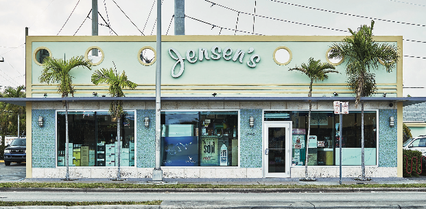 Most Jensen's locations (flagship SW 27th Avenue store pictured) are located in working-class areas, and each store's location dictates the product selection.