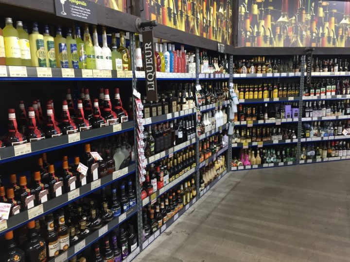 At BevMo (Walnut Creek liqueur section pictured), big-name liqueur offerings continue to lead the charge.