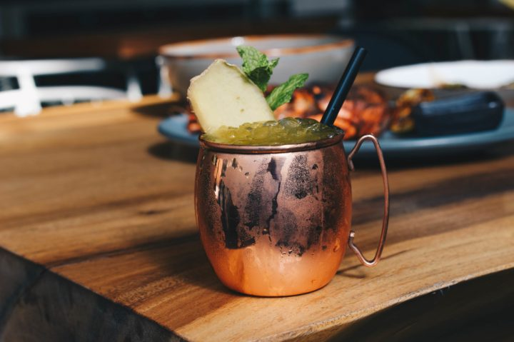 At Komodo in Miami, the Ginger Passion Fruit Mule (pictured) features Belvedere vodka alongside Mio Sparkling sake.