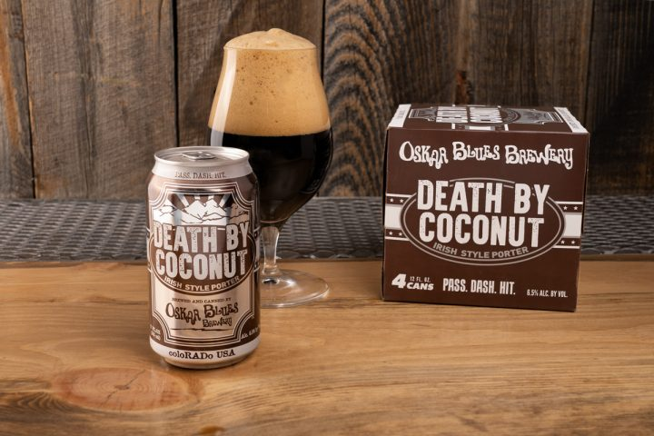 Dessert beers like Oskar Blues Brewery's seasonal label Death by Coconut Irish porter (pictured) provide the opportunity for dessert pairings, dessert recipes, or after-dinner drinks.