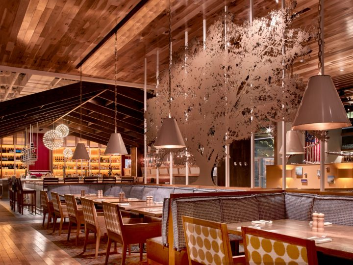 The Founding Farmers restaurant concept today boasts five locations in Washington, D.C., Virginia (interior pictured), Maryland, and Pennsylvania.