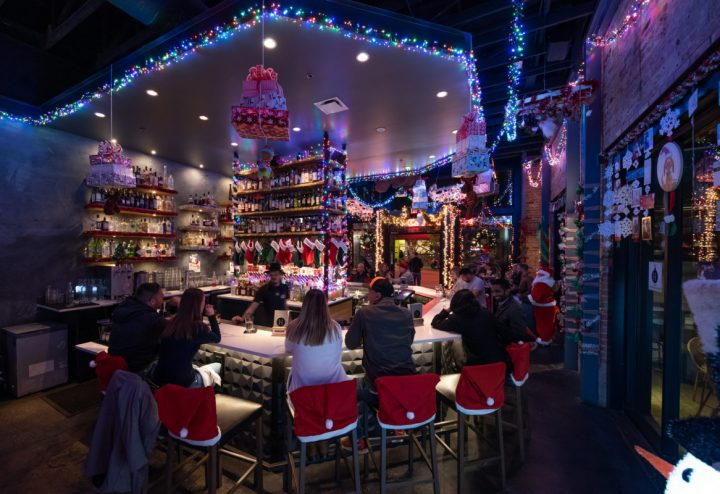 Holiday-themed pop-up Miracle, which originated in New York City in 2014 and now has more than 90 locations, takes over Dallas bar Hide (Miracle at Hide pictured) throughout the month of December.
