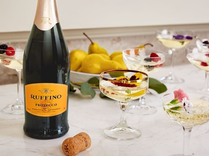 Prosecco's price and style have made the sparkling wine a favorite in the cocktail sphere (Ruffino cocktails pictured) and as aperitifs.