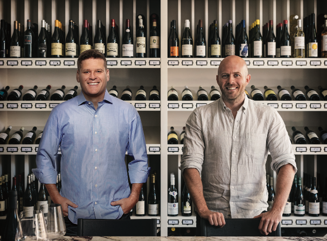 Co-founders Derrick Mize (left) and Dustin Wilson launched Verve Wine in New York's Tribeca neighborhood and online in 2016, and opened a second location in San Francisco's Pacific Heights neighborhood last year. They plan to open a third store in Chicago in 2020.