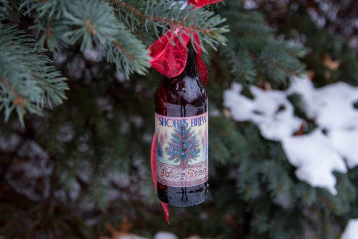 During the holiday season, many beer drinkers opt for spruce beers like Michigan-based Short's Brewing Co.'s Juicy Tree IPA (pictured), made with with spruce tips, cranberries, and juniper berries.