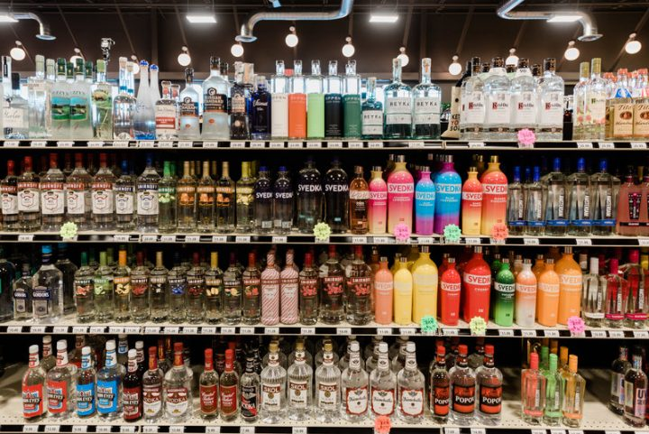 Cap n' Cork's ability to expand to new location is limited, so the company is looking to widen the footprint of its existing stores, sometimes doubling their size. The Maysville Point unit (vodka shelves pictured) was recently expanded from 3,500 square feet to 6,800 square feet.