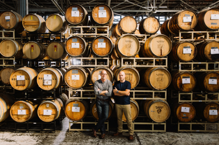 Craft distilleries like California-based St. George Spirits (master distiller Lance Winters and head distiller and blender Dave Smith pictured) are adding excitement to the American brandy category.