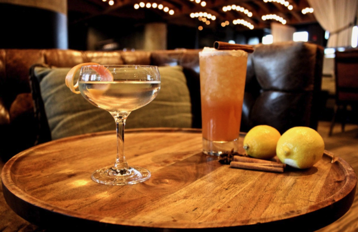 At Geraldine's in Austin, Texas, most custom cocktails are for drinkers who want less alcohol and sugar. Recent off-menu offerings include a St. George Botanivore gin-based Martini (pictured left) and a drink made with house-made apple shrub (right).
