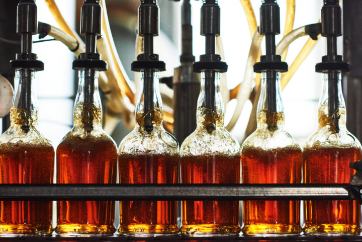 BMD (filling line pictured) began production in 2007, and was the first legal distillery in the Berkshires since Prohibition.