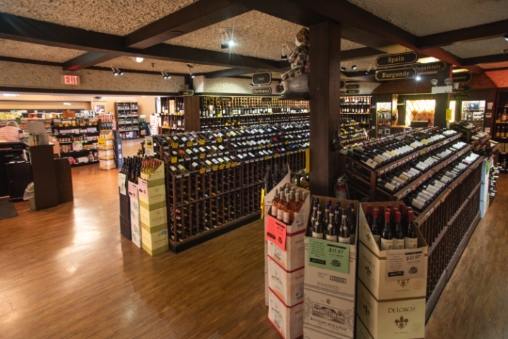 With 2,300 SKUs, wine (aisles pictured) makes up 60% of sales at Schaefer's. Though staffers say younger consumers are collecting less wine, the store is seeing an upswing in French offerings, particularly rosé and wines from Sancerre, as well as inexpensive Bordeaux.