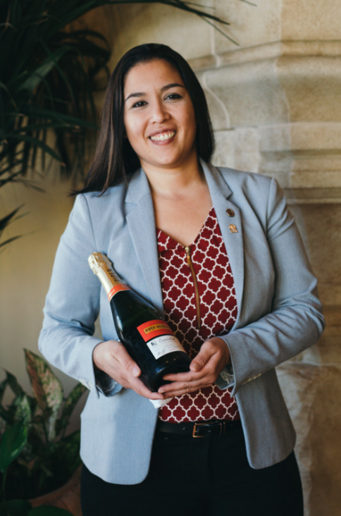 Terranea Resort beverage director Alicia Ajolo (pictured) works directly with local California winemakers on her menu.
