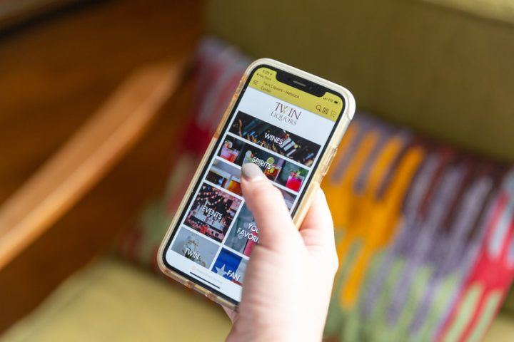 Texas retailer Twin Liquors' app (pictured) launched in late 2018 and has helped establish the chain's online retail channel, allowing for in-store pickup as well as delivery.