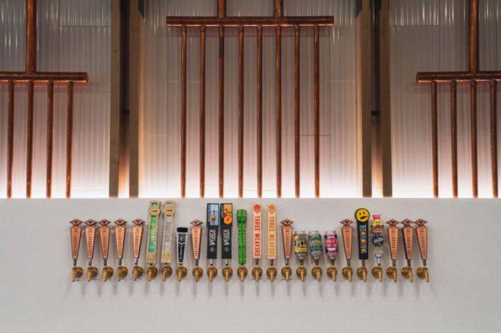 A recent innovation from Canarchy is its Collaboratory (taps pictured) in Asheville, North Carolina. The first Canarchy-branded venue, Collaboratory aims to be a step up from a typical brewpub, offering a full-service restaurant and brewers' innovation lab all in one space.