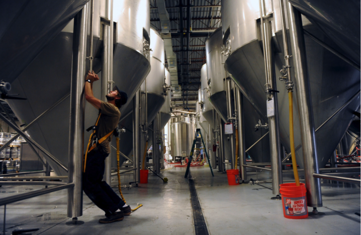 Canarchy (tanks pictured), based in Longmont, Colorado, has no immediate plans to add brewers, but it's scouting expansion options in the Northeast, Midwest, and Pacific Northwest.