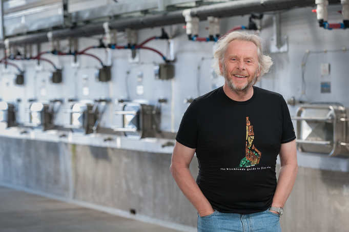 Most every New Zealand winery emphasizes sustainable values. Felton Road (proprietor Nigel Greening pictured) has been a zero-gross winery for 15 years.