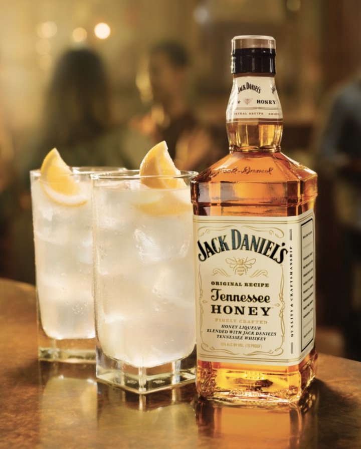 Brown-Forman Corp. currently has the largest honey-flavored whiskey in the market—Jack Daniel's Tennessee Honey (bottle pictured).