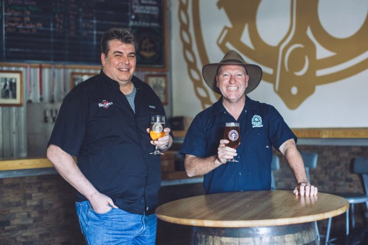 Kings & Convicts Brewing Co. was founded by Chris Bradley (left) and Brendan Watters (right) in 2017. Though the Illinois-based brewery currently has capacity of just 600 barrels a year, a 150,000 barrel-capacity facility is in the works in Wisconsin. When the Wisconsin facility is complete, both Kings & Convicts and Ballast Point beers will be produced there to maximize freshness in shipments across the country.