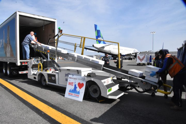 Covid-19 began gripping the nation from mid-March, and the beverage alcohol industry stepped up to help. Southern Glazer's Wine & Spirits deployed its delivery fleet to transport critical medical supplies in markets like New York (pictured).