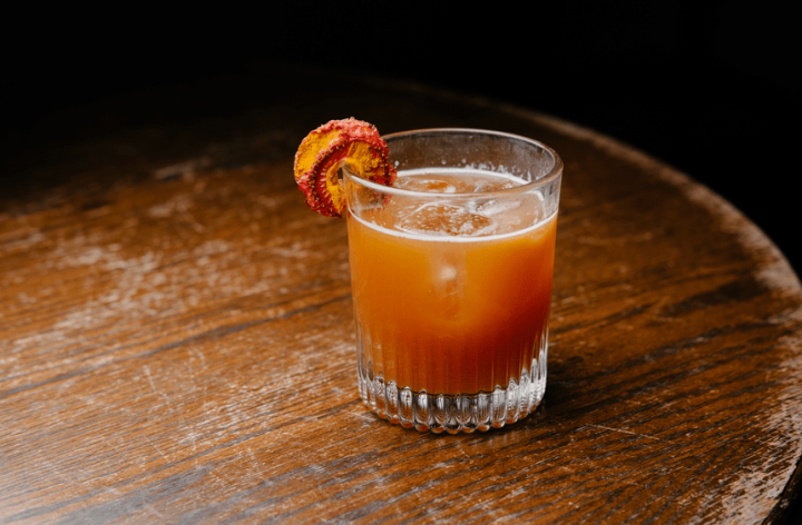 Pub Royale's Strawberry Turmeric Daiquiri (pictured) mixes Plantation Original Dark and Xaymaca Special Dry rums with house-made strawberry-turmeric Demerara syrup and lime juice.