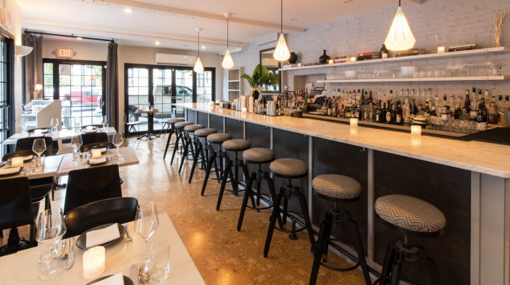 On-premise venues like Clay (bar pictured) in New York City have been turning to higher-end offerings in addition to local brands.