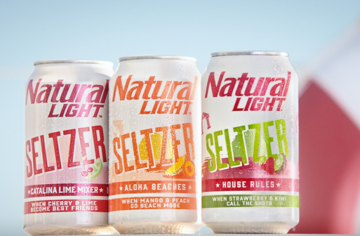 New products such as Natural Light Hard Seltzer (lineup pictured) are building excitement for the seltzer category.