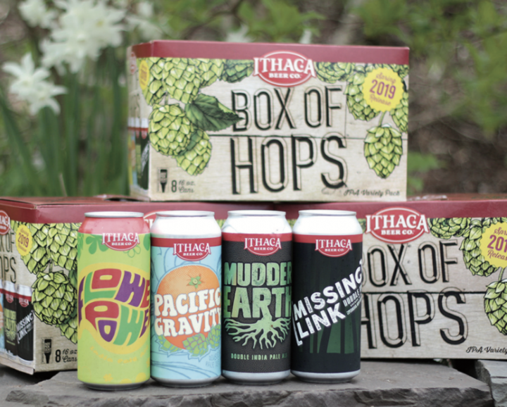 To generate excitement for specific beer styles, many brewers are reimagining the traditional variety pack. Ithaca Beer Co. in New York uses its Box of Hops (pictured) to showcase its IPA offerings.