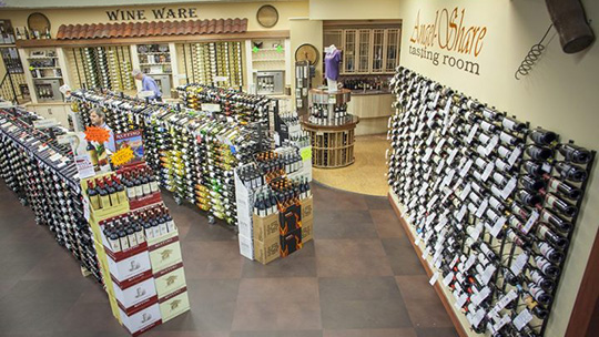 Cumberland Farms' ballot proposal would eliminate the cap on beer and wine licenses for food stores (Julio's Liquors interior pictured).