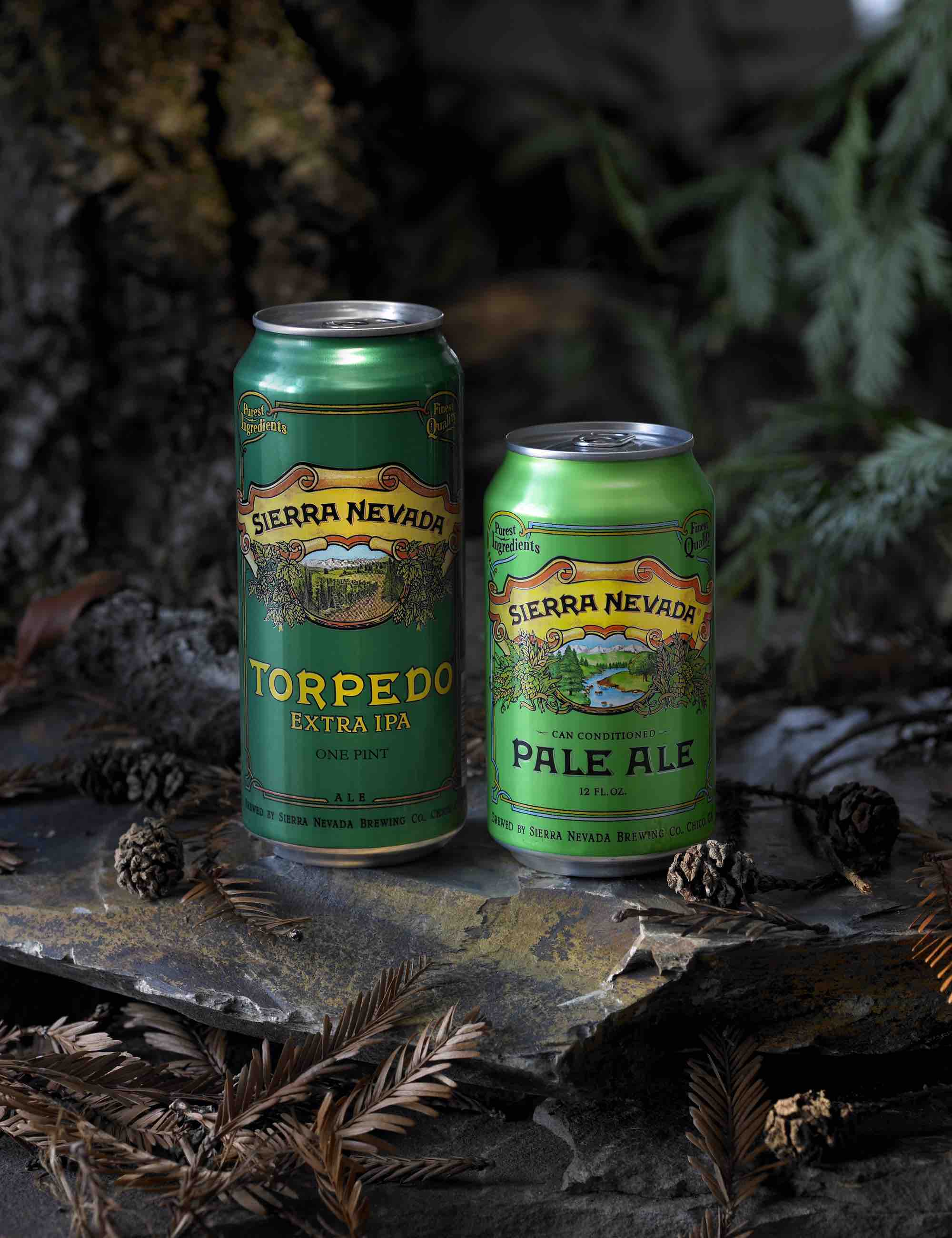 Sierra Nevada Brewing Co. offers some of its beers in 16- and 12-ounce cans, which are more environmentally friendly and preserve beer quality better than bottles.