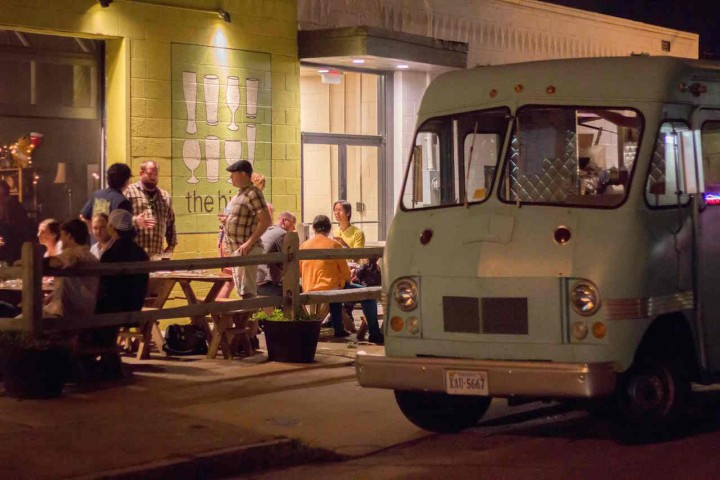 Norfolk, Virginia's Birch Bar has partnered with local food trucks to offer flexible food options. The trucks, which appear at the venue during events, often pair their food with Birch Bar's craft beers.