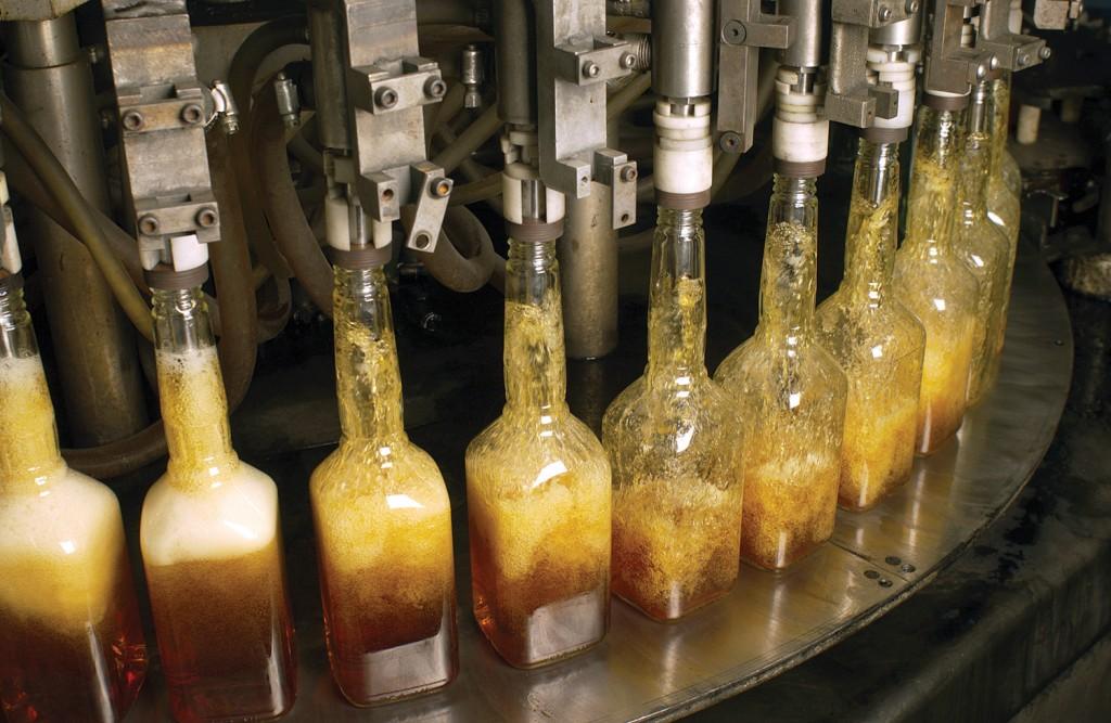 Bottles of Bernheim get filled at Heaven Hill.