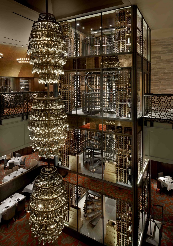 At Del Frisco's Double Eagle Steak House in Chicago (three-story wine tower pictured), Chilean wines do best at higher price points.
