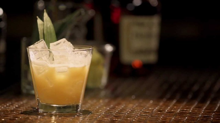 The Game Changer combines Hennessy VS Cognac, Ardbeg single malt Scotch whisky, lime juice, agave nectar, pineapple and Angostura bitters.
