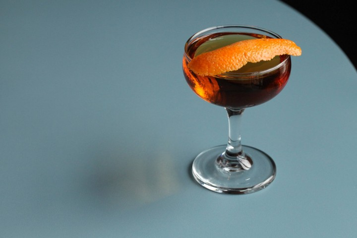 The Monkey Business combines Leopold Bros. American Small Batch gin, Lillet Blanc aperitif and Fernet Branca amaro.