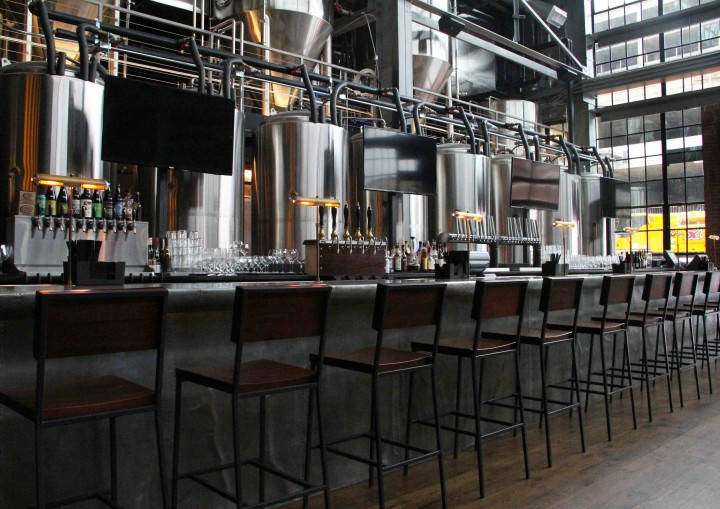 Bluejacket brewery offers 20 draft and five cask beers on tap, along with hand-bottled brews.