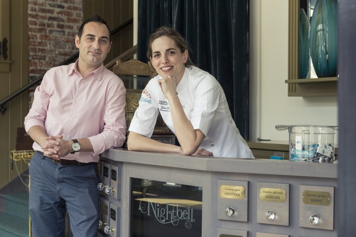 Félix Meana and chef Katie Button own the innovative cocktail bar Nightbell.