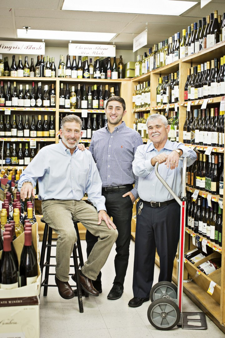 FROM LEFT: Rodman's owner and CEO Roy Rodman, vice president Nolan Rodman and wine manager Julio Porcell emphasize their excellent selection, prices and service.