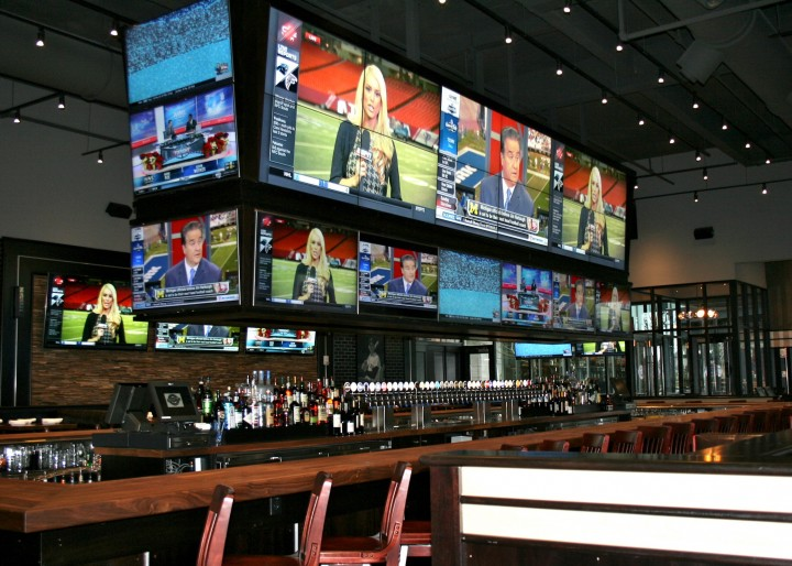 Tony C's Sports Bar & Grill brings the baseball stadium to the bar in Boston.