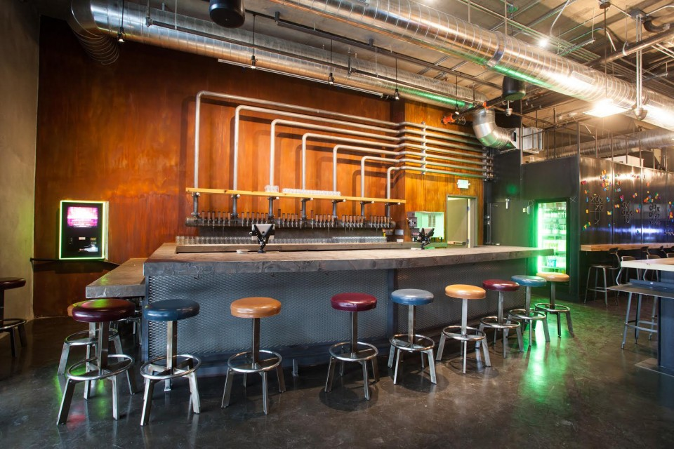 San Francisco's Brewcade combines vintage arcade–style gaming with a modern beer and cocktail bar in a sleek industrial space. The venue focuses on offerings from local breweries.