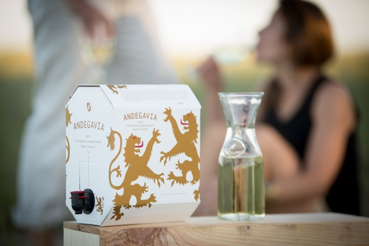 Sales of 3-liter boxed wines have increased by 20 percent a year for a decade. The boom has also led to the growth of luxury boxed wine offerings like Andegavia (pictured), which retails for upwards of $65 a cask.