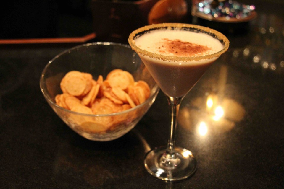 The Cookies, Coffee and Cream cocktail uses honey-flavored whiskey and Benne wafers, a Charleston, South Carolina, specialty.