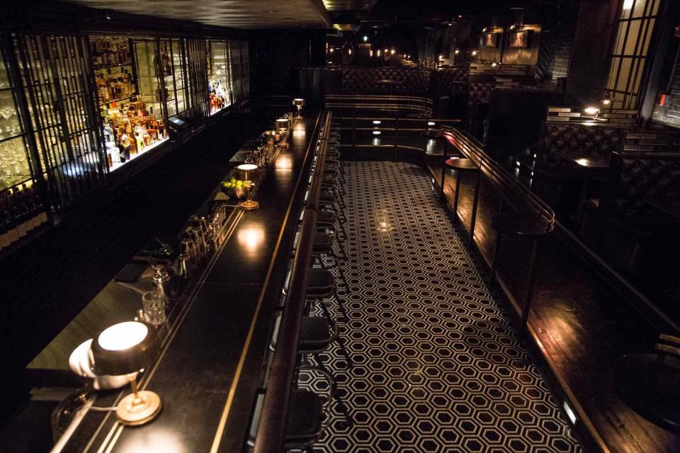 Denson Liquor Bar in Washington, D.C., has an art deco vibe to match its classic drinks.