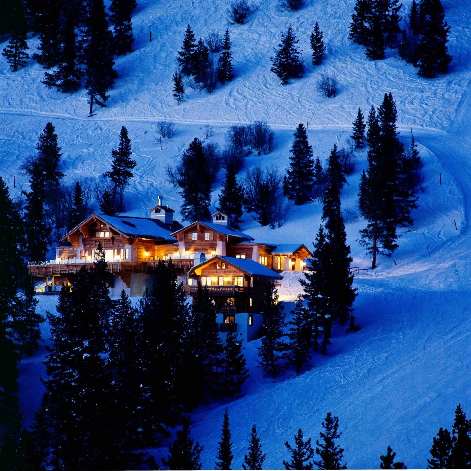Game Creek Restaurant caters to the affluent skiers that flock to Vail in the winter.